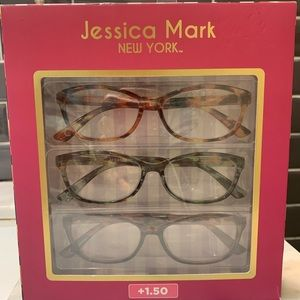Set of 3 pairs of reading glasses (new) +1.50